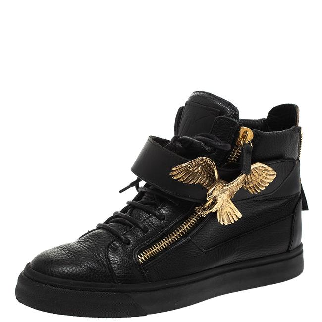Item - Black Leather Eagle High Top Sneakers Size 40 Athletic