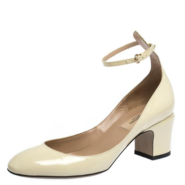 Item - Tango Cream Patent Leather Ankle Strap Size 37 Pumps