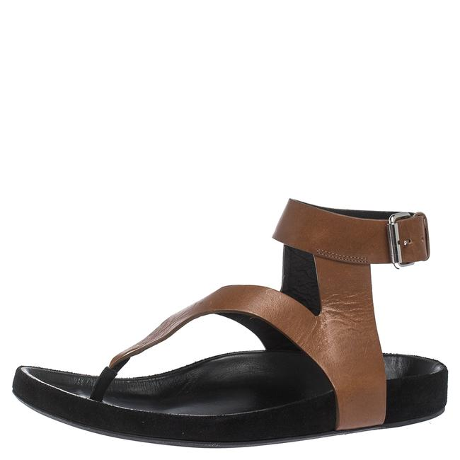 Item - Brown Leather Elwina Ankle Strap Size 41 Sandals