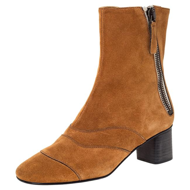Chloé Brown Suede Block Heel Ankle Size 37.5 Boots/Booties Chloé Brown Suede Block Heel Ankle Size 37.5 Boots/Booties Image 1