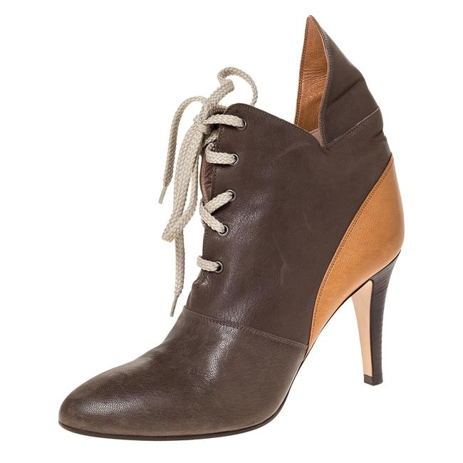 Chloé 2 Tone Leather Lace Up Ankle Size 38.5 Boots/Booties Chloé 2 Tone Leather Lace Up Ankle Size 38.5 Boots/Booties Image 1