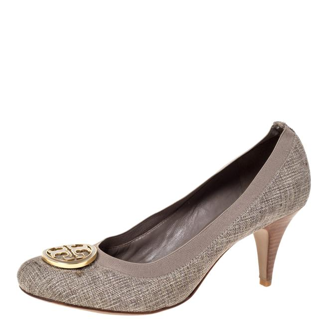 Item - Grey Canvas Caroline Reva Scrunch Size 40 Pumps
