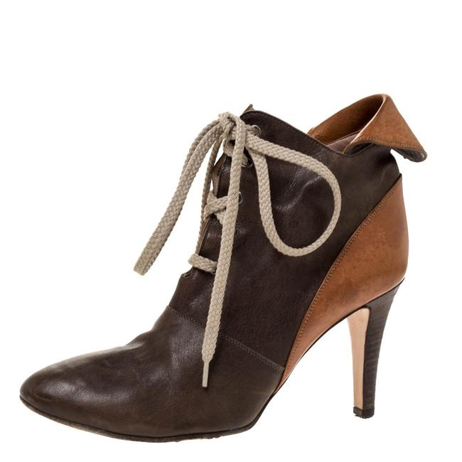Item - Brown Leather Pointed Toe Ankle Size 36 Boots/Booties