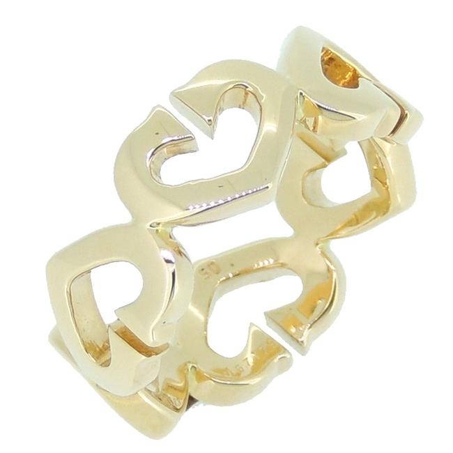 Item - Symbol Hearts 18k Yellow Gold Ring Size 50 Jewelry