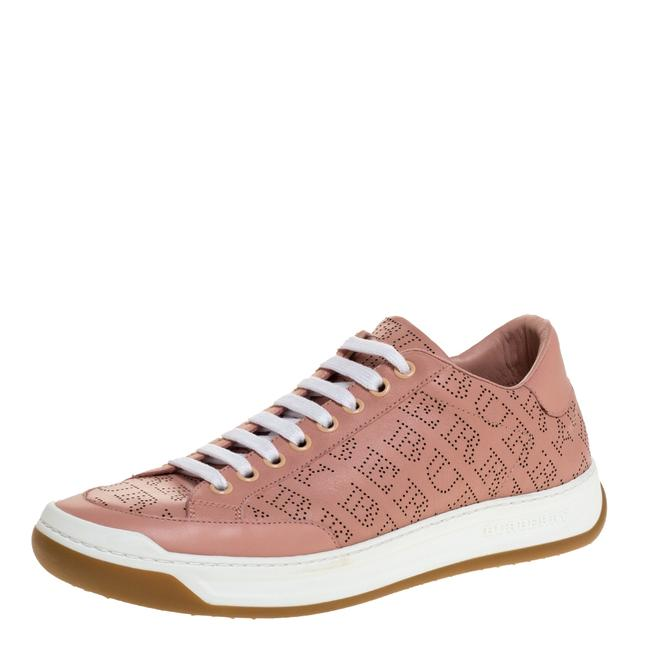 Item - Pink Perforated Leather Timsbury Low Top Sneakers Size 39.5 Athletic