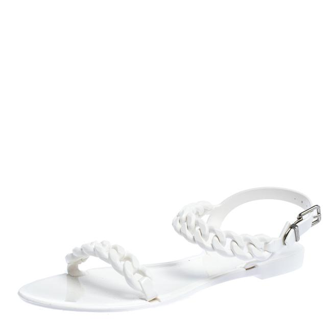 Item - Jelly White Chain-link Flat Size 41 Sandals
