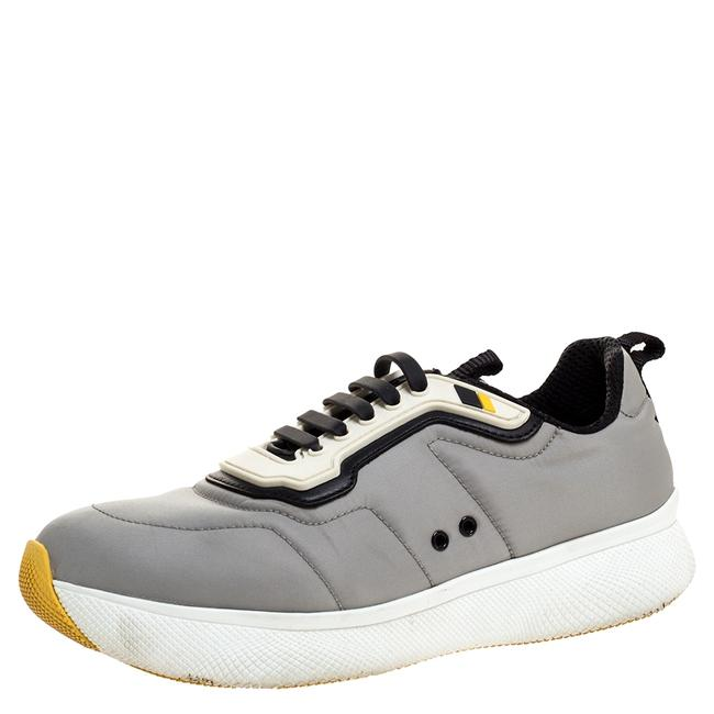 Item - Grey Nylon and Rubber Lace Up Sneakers Size 38 Athletic