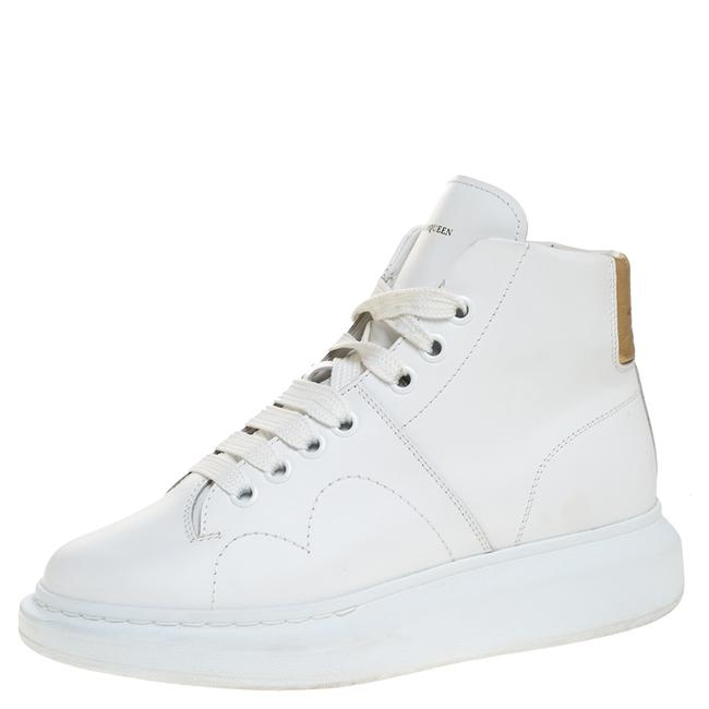 Item - White Leather High Top Sneakers Size 39.5 Athletic