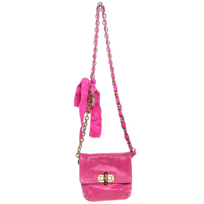 Item - Crossbody Fuchsia Leather Mini Happy Shoulder Bag
