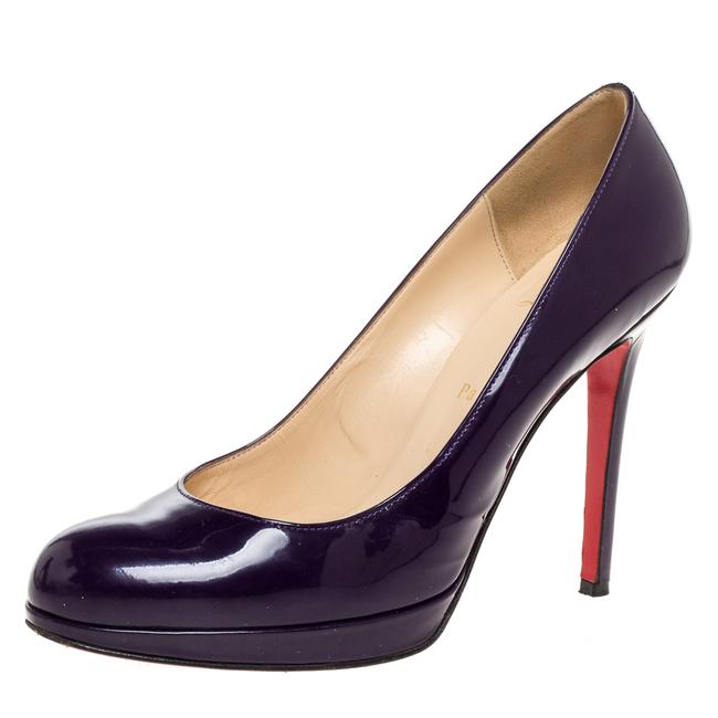 Item - Purple Patent Leather New Simple Platform Size 39 Pumps