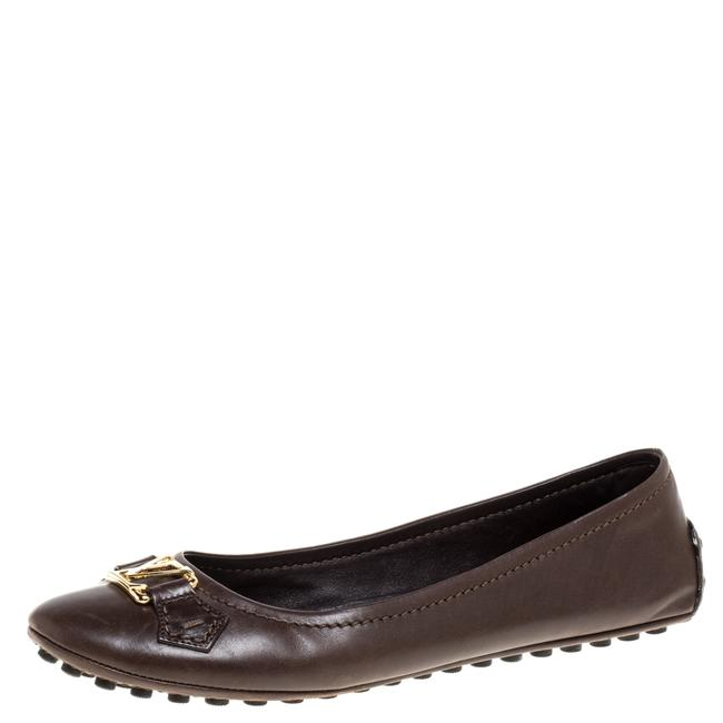 Item - Brown Leather Oxford Ballet Size 39.5 Flats