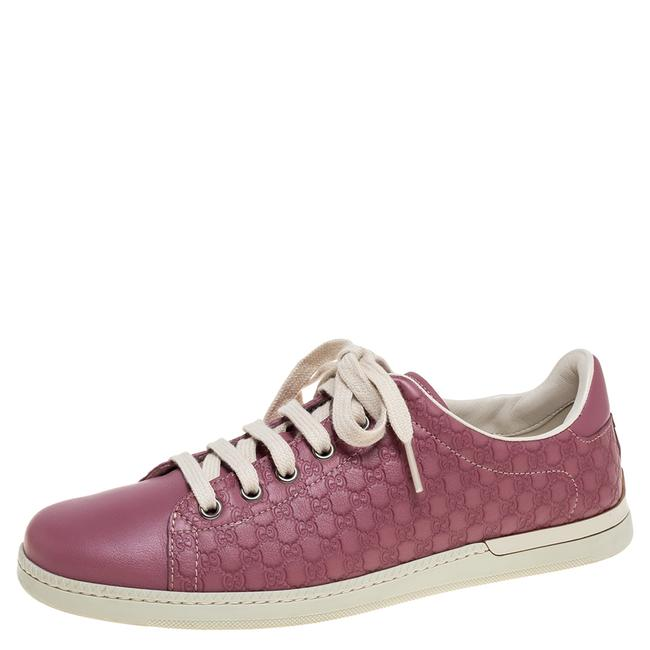 Item - Pink Micro ssima Leather Low Top Sneakers Size 37.5 Athletic