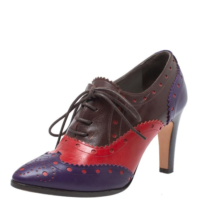 Item - Tricolor Leather Brogue Oxford Ankle Size 36 Boots/Booties