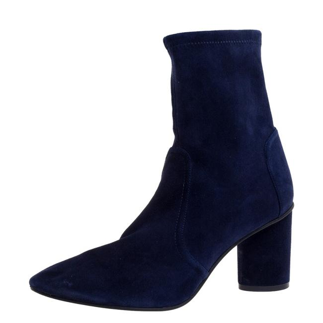 Item - Navy Blue Suede The Margot 75 Ankle Size 40.5 Boots/Booties