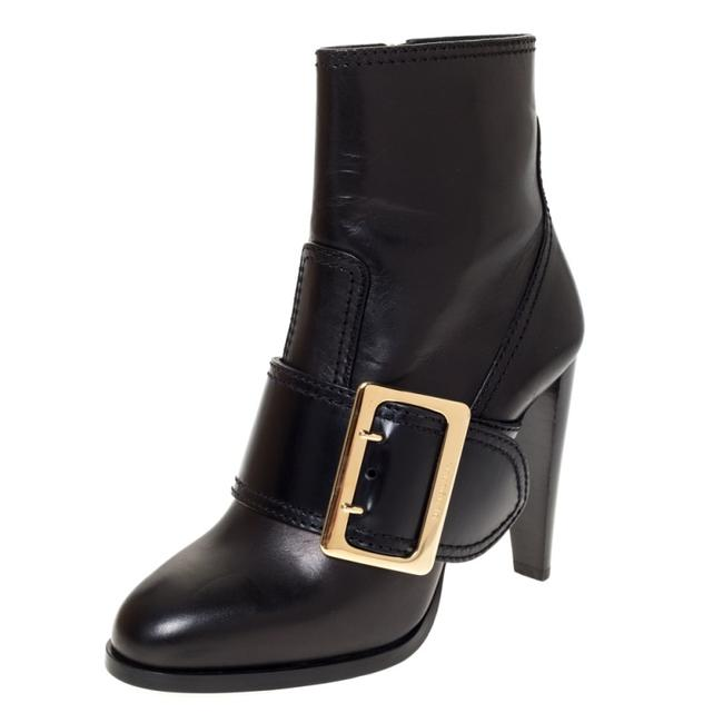 Item - Black Leather Buckle Ankle Size 40 Boots/Booties