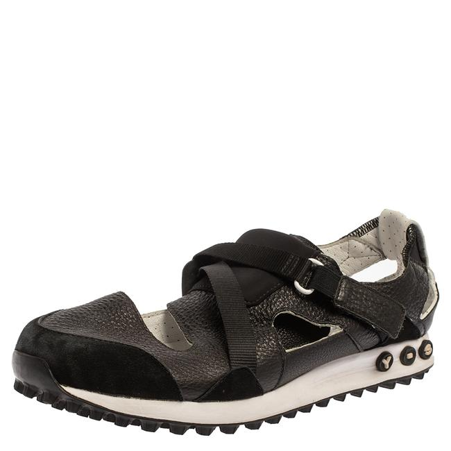 Item - Black Suede and Leather Strappy Velcro Sandal Sneakers Size 42 Athletic