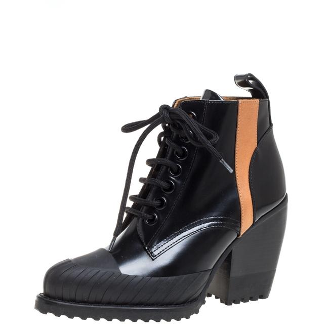 Item - Black Leather Rylee Rubber Cap Toe Lace Up Ankle Size 36 Boots/Booties