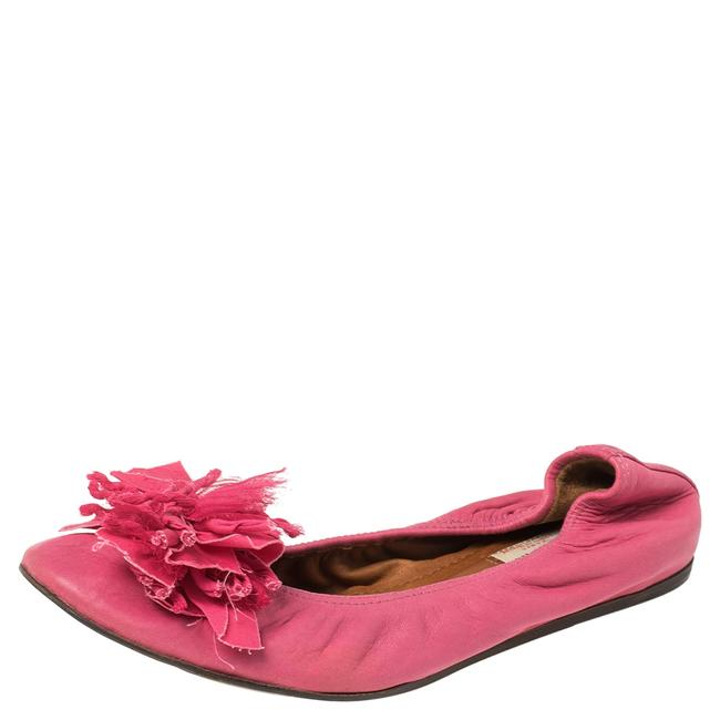 Item - Pink Leather Ballet Size 40 Flats
