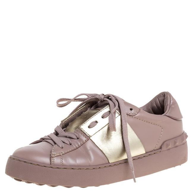 Item - Pale Pink Leather Rockstud Sneakers Size 35 Athletic