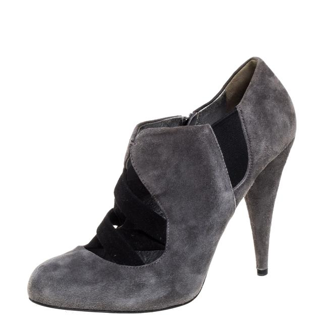 Item - Grey Suede Ankle Size 38 Boots/Booties