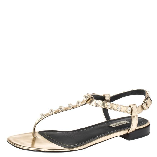 Item - Gold Studded Leather Arena Size 39 Sandals