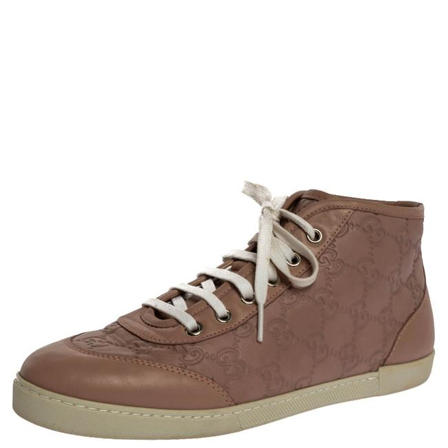 Item - Nude Pink ssima Leather Lace High Top Sneakers Size 37 Athletic