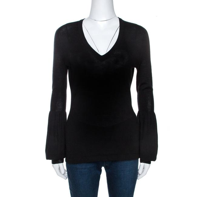 Item - Black Cashmere Knit Long Sleeve Top M Blouse