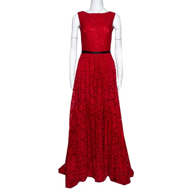 Item - Red Lace Bow Detail Sleeveless Gown S