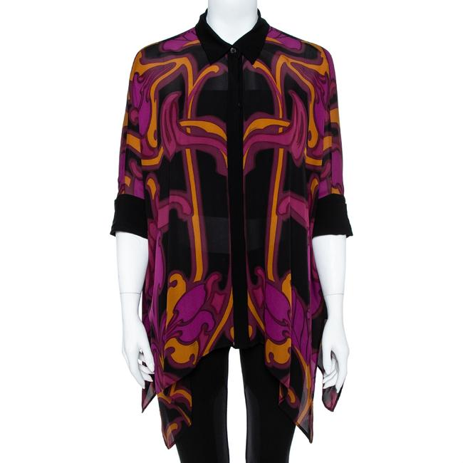Item - Multicolor Printed Silk Oversized Blouse