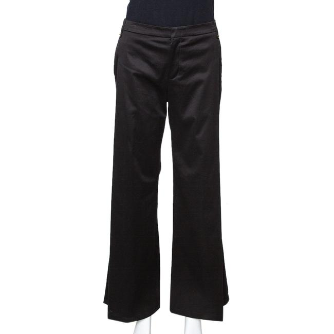 Item - Black Cotton High Waisted Pleated Front Trousers S Pants