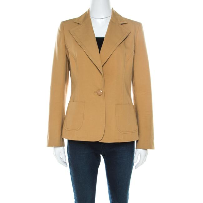 Item - L Mustard Yellow Cotton Single Button Blazer