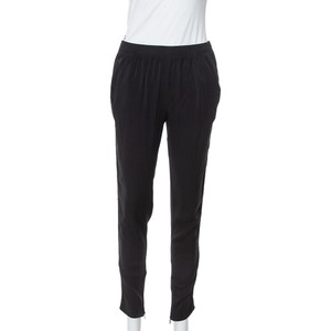 Gucci Black Silk Crepe Tapered Trousers S Pants