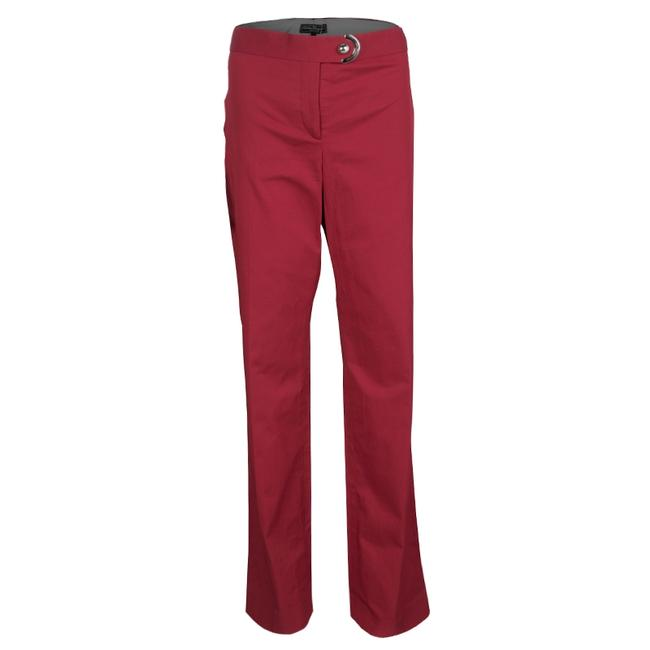 Item - L Red Button Detail Straight Fit Pants