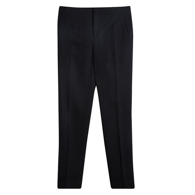 Item - Black Tailored Straight Fit Trousers S Pants