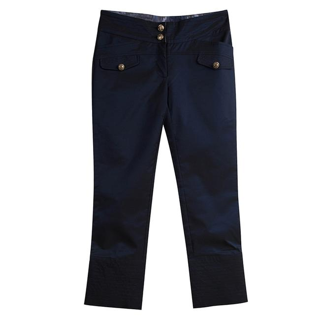 Item - By Roberto Navy Blue Dual Tone Cropped M Pants