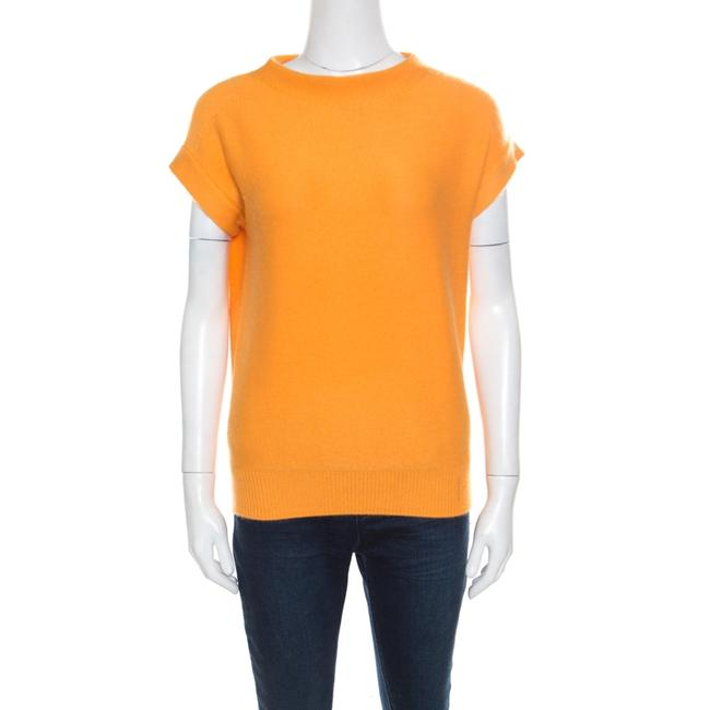Item - Yellow Cashmere Short Sleeve Sweater/Pullover