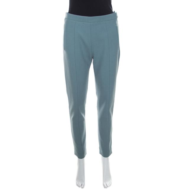 Item - Sage Green High Waist Tapered Trousers M Pants