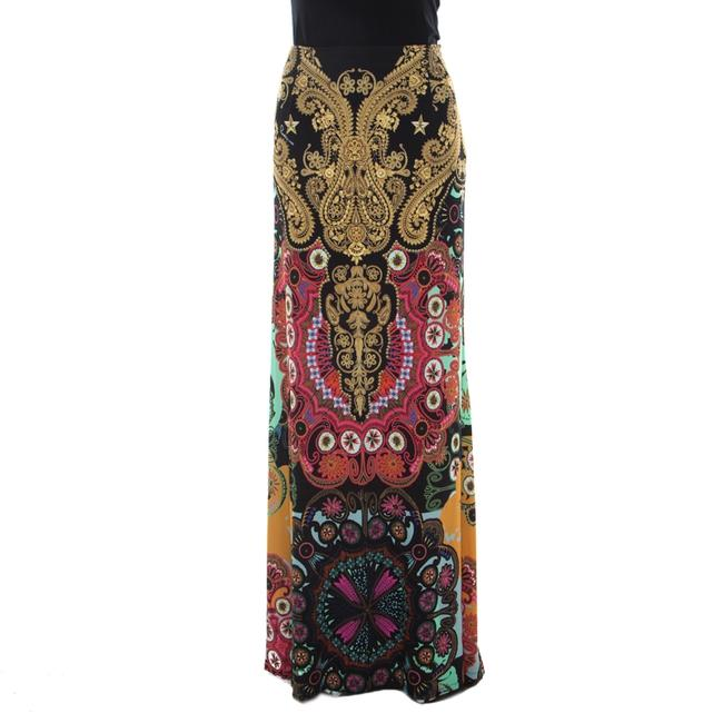 Item - Multicolor Baroque Print Flared Maxi Skirt