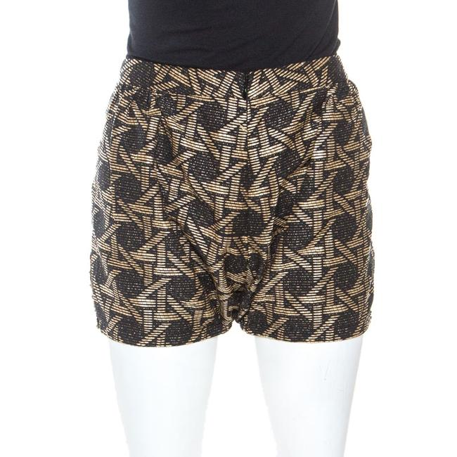 Item - Bicolor Wicker Woven Frayed Trim Detail Shorts