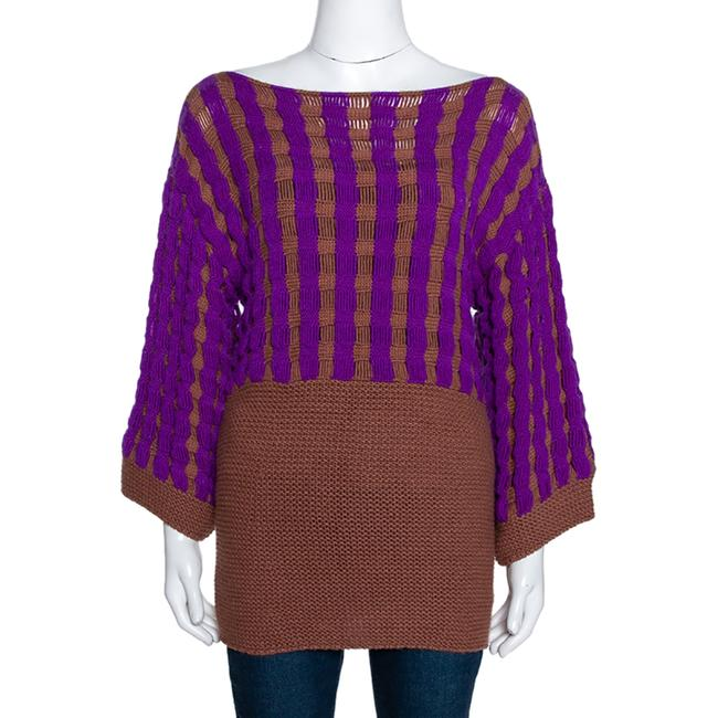 Item - Brown Purple Chunky Cashmere Knit Sweater/Pullover