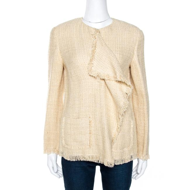 Item - Beige Linen Silk Chantel Jacket