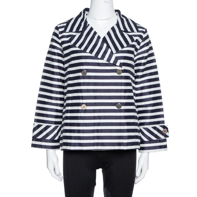 Item - Navy Blue and White Striped Double Breasted Jacket