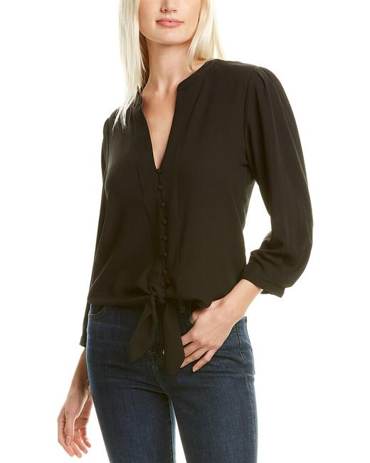 Item - Tie-front Crepe Top 8129034 Blouse