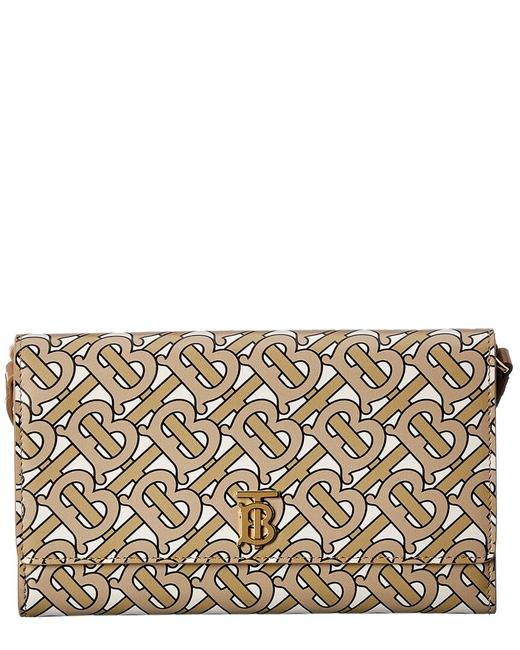 Burberry Wallet on Chain Monogram Leather Continental 8014973 Accessory Burberry Wallet on Chain Monogram Leather Continental 8014973 Accessory Image 1