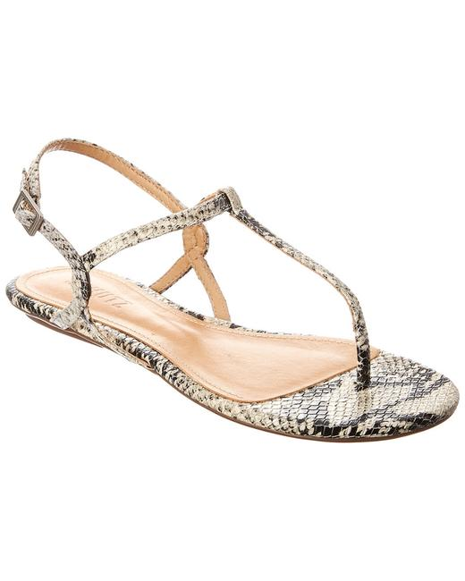 SCHUTZ Anaielle Snake-embossed Leather S0109302840013 Sandals 13119265900003 Image 1