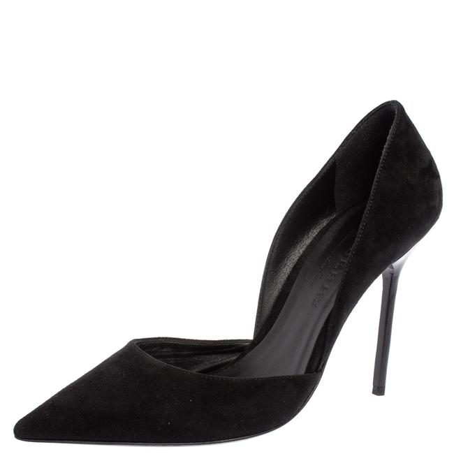 Item - Black Suede Leather Virna D'orsay Pointed Size 38.5 Pumps