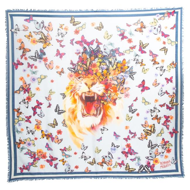 Item - Butterfly-print Modal and Silk-blend Scarf/Wrap
