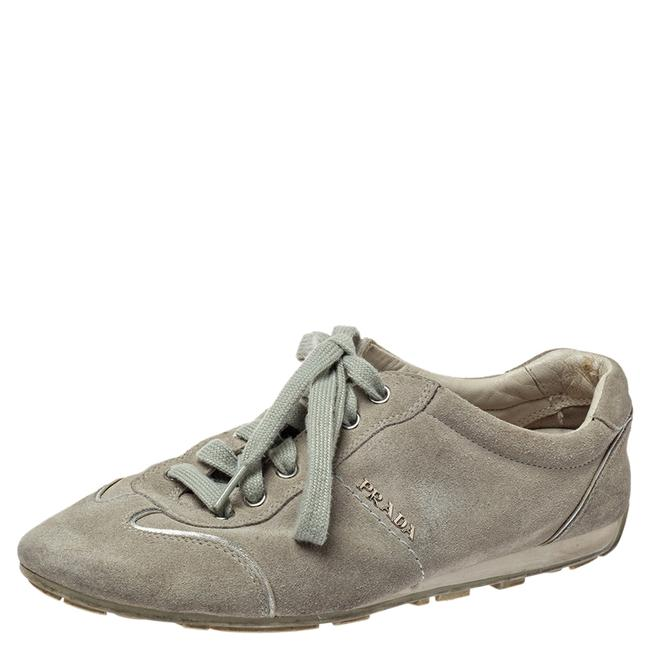 Item - Grey Suede Low Top Sneakers Size 38 Athletic