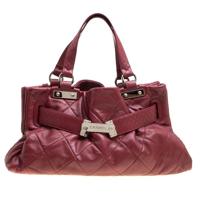 Item - Red Quilted Leather Tote