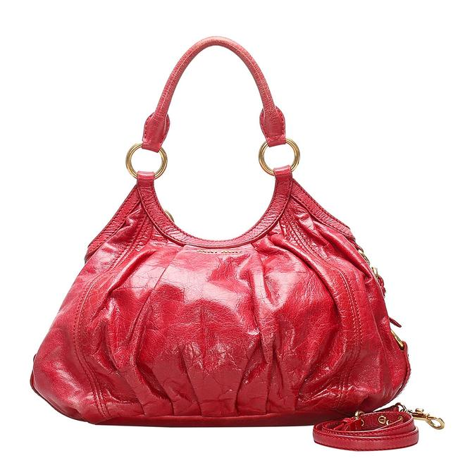 Item - Red Leather Hobo Bag